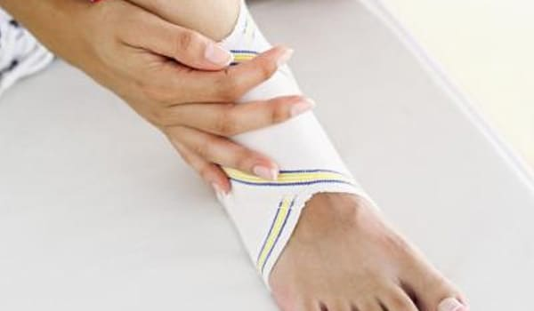 Exercise and stretch joints such as the ankle to increase strength and range of motions.