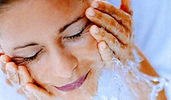 Keep your skin very clean. Limit washing your face to two or three times a day. Too much washing will stimulate your skin to produce more oil.