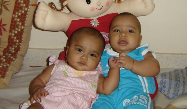 Twins often tend to develop at a similar pace, and may be predisposed to having similar choices e.g. in toys, food etc. but they may not be ready for sharing as yet. It may be a difficult situation to handle when both want the same thing, or when both demand something different. <span class=