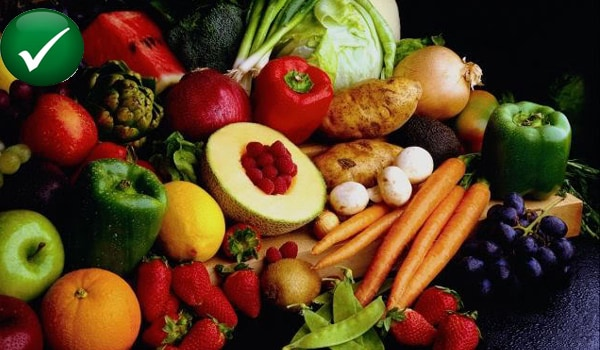 Eat plenty of fruits and vegetables