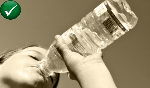 Drink 8-10 glasses of water a day