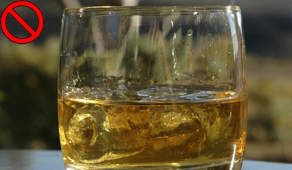 Avoid alcohol and processed foods