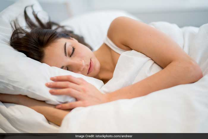 Sleep helps regulate your body's metabolism and helps you stay fresh. Take 6-8 hours sleep daily for a healthy and younger looking skin.