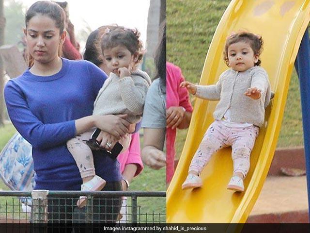 Photo : Viral Photos: जब पार्क में आम बच्चों की तरह खेलती नज़र आईं मीशा