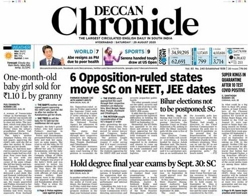 6 States Move Top Court Against NEET, JEE Exams; Other Top Stories