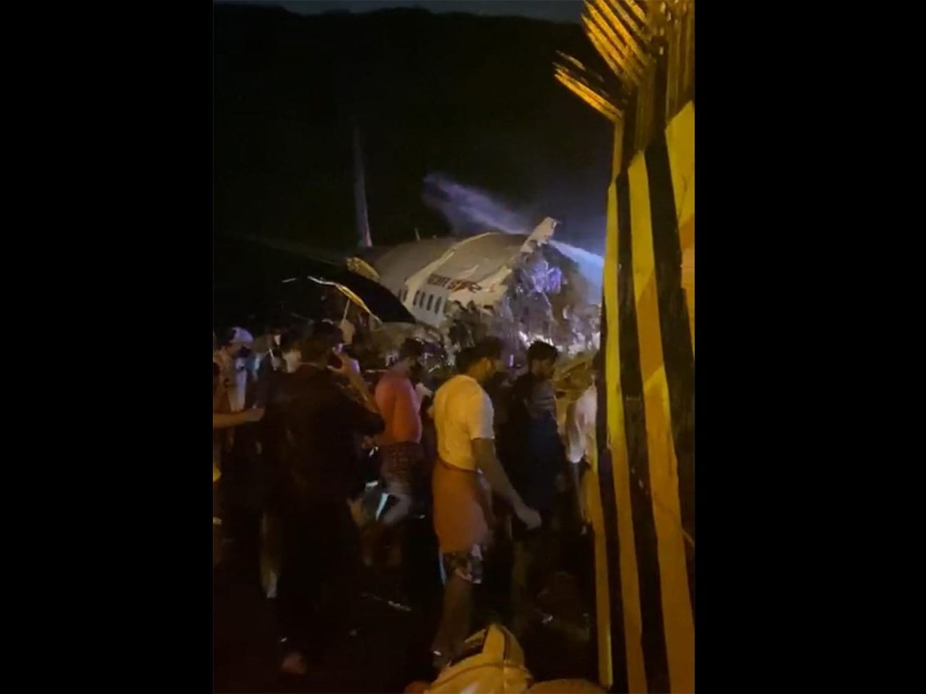 First Pics: Air India Express Plane Splits Into 2 While Landing In Kerala