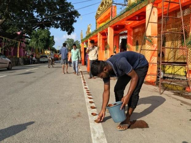 शिलान्यास से पहले कुछ इस तरह नजर आई राम की नगरी अयोध्या
