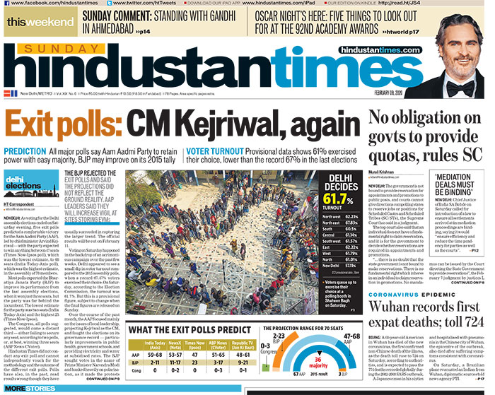 Delhi Assembly Exit Polls Shows Arvind Kejriwal Again, Coronavirus Scare & Other Top Stories