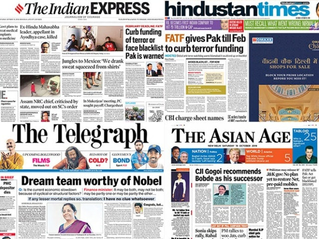 Photo : FATF Warning To Pak, Nirmala Sitharaman's Response To Manmohan Singh In Economy Blame Game; And Other Stories