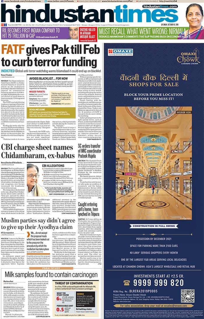 FATF Warning To Pak, Nirmala Sitharaman\'s Response To Manmohan Singh In Economy Blame Game; And Other Stories