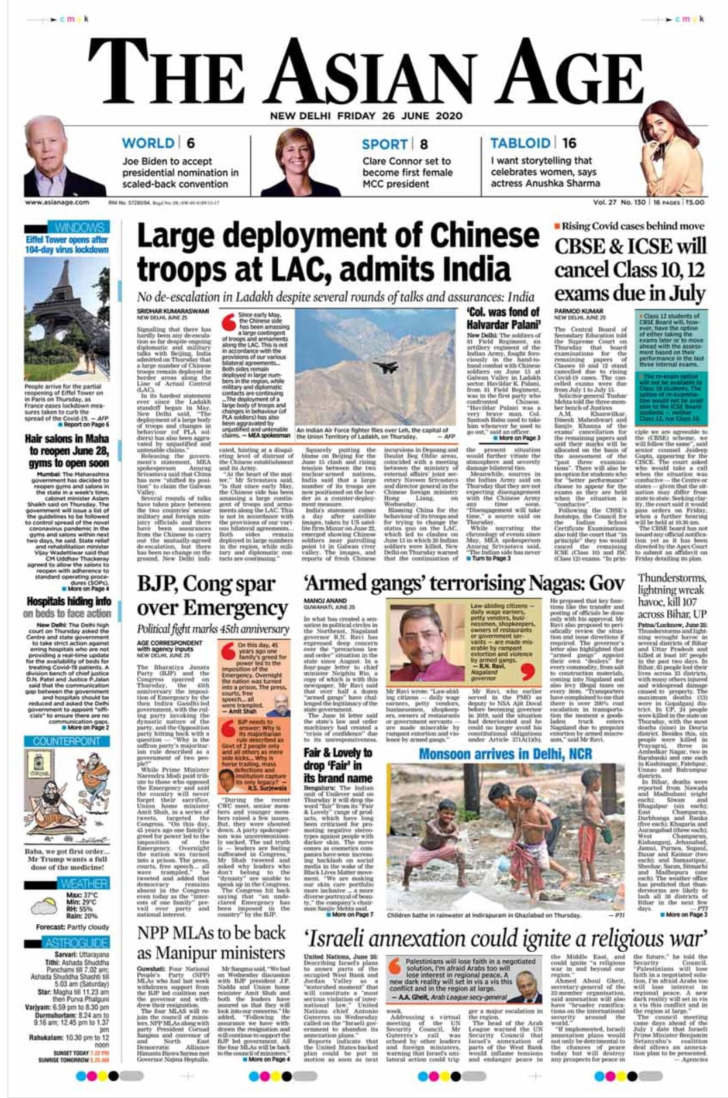 Centres Statement On Chinese Troops And Other Top Stories