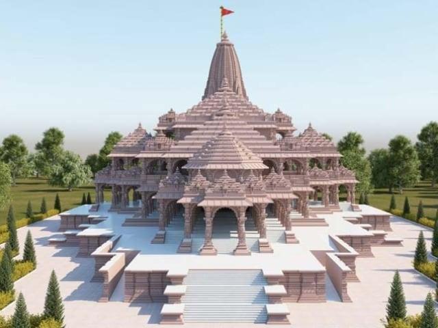 Photo : भूमि पूजन से पहले सरकार ने जारी की राम मंदिर के नए मॉडल की तस्वीर
