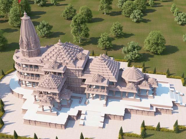 भूमि पूजन से पहले सरकार ने जारी की राम मंदिर के नए मॉडल की तस्वीर