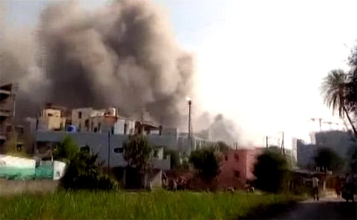 In Pics: Fire Breaks Out At Under Construction Building At Serum Institute