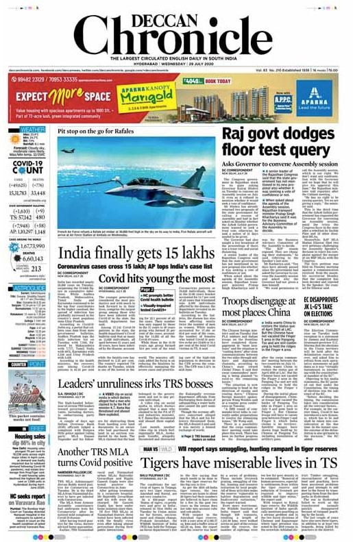 India Crosses 15-Lakh Mark In Coronavirus Cases; Other Top Stories