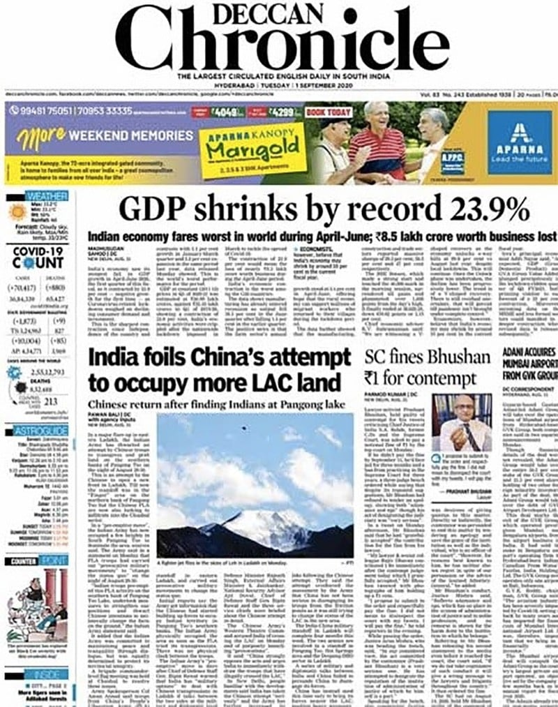 India\'s GDP Contracts By 23.9%, Worst In Over Four Decades; Other Top Stories