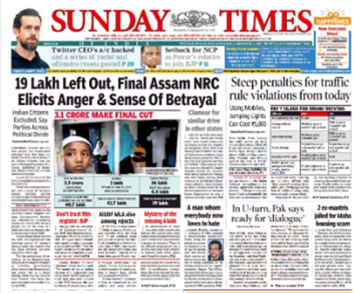 Newspaper Headlines: Assam NRC On Page 1 Of All Papers