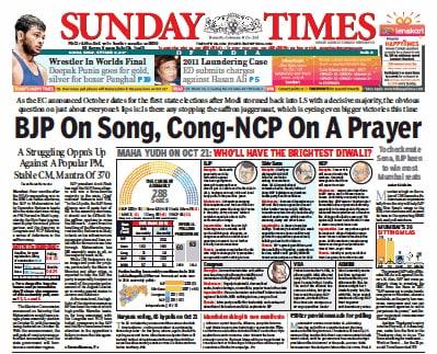 Newspaper Headlines: Maharashtra, Haryana Polls And Other Big Stories