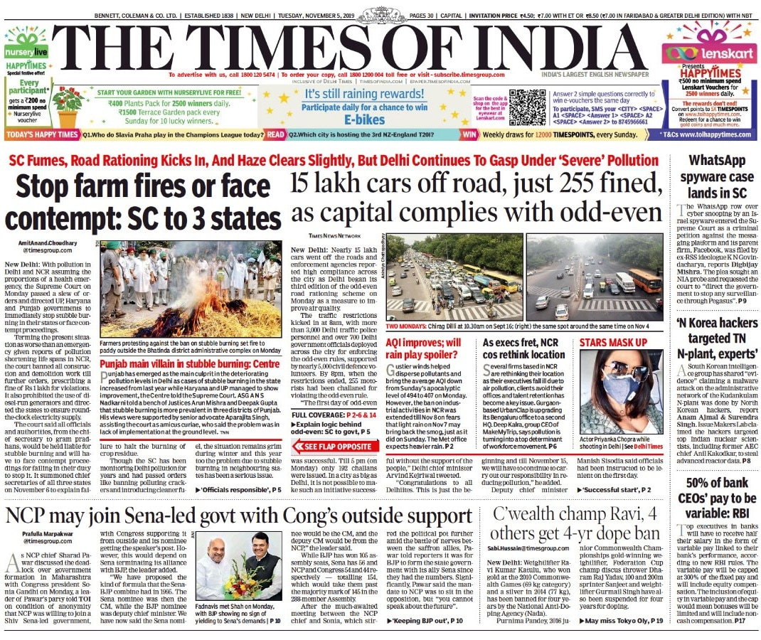 Newspaper Headlines: India Opting Out Of RCEP, Says Concerns Not Addressed