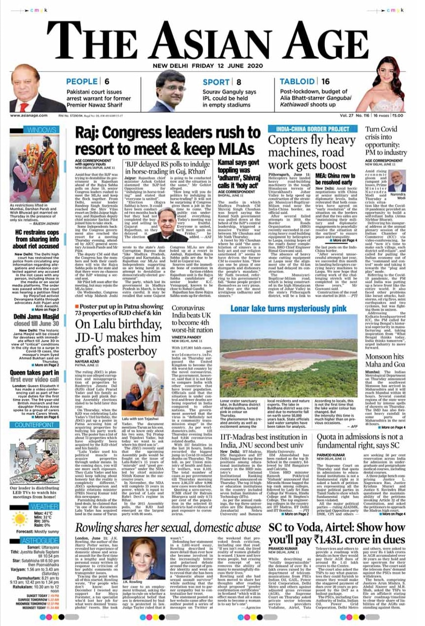 Newspaper Headlines: Highest Single-Day Spike Of COVID Cases In Delhi & Other Top Stories