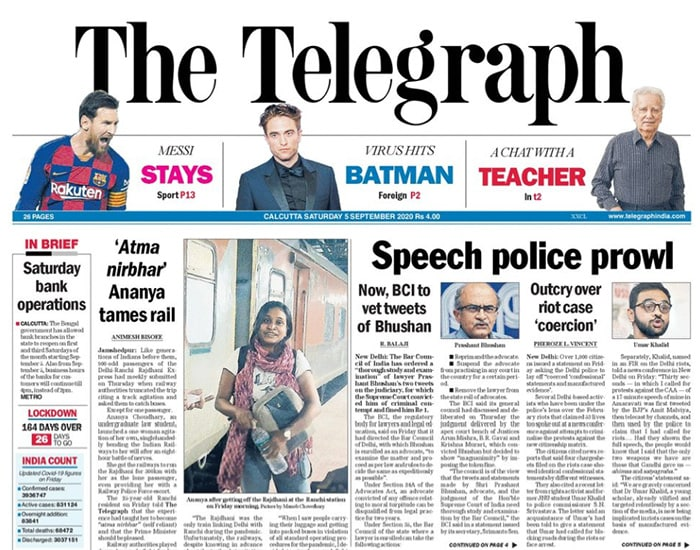 Newspaper Headlines: Don\'t Try To Change Status Quo, Says Defence Minister Rajnath Singh To China & Other Top Stories