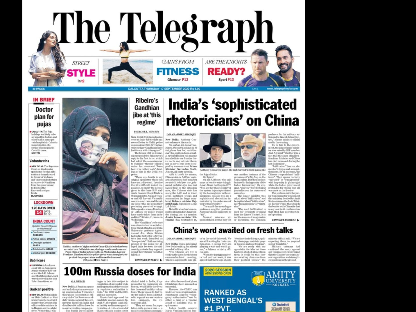 Newspaper Headlines: Centre Faces Backlash In Parliament On Lockdown, Migrants, China Border Row