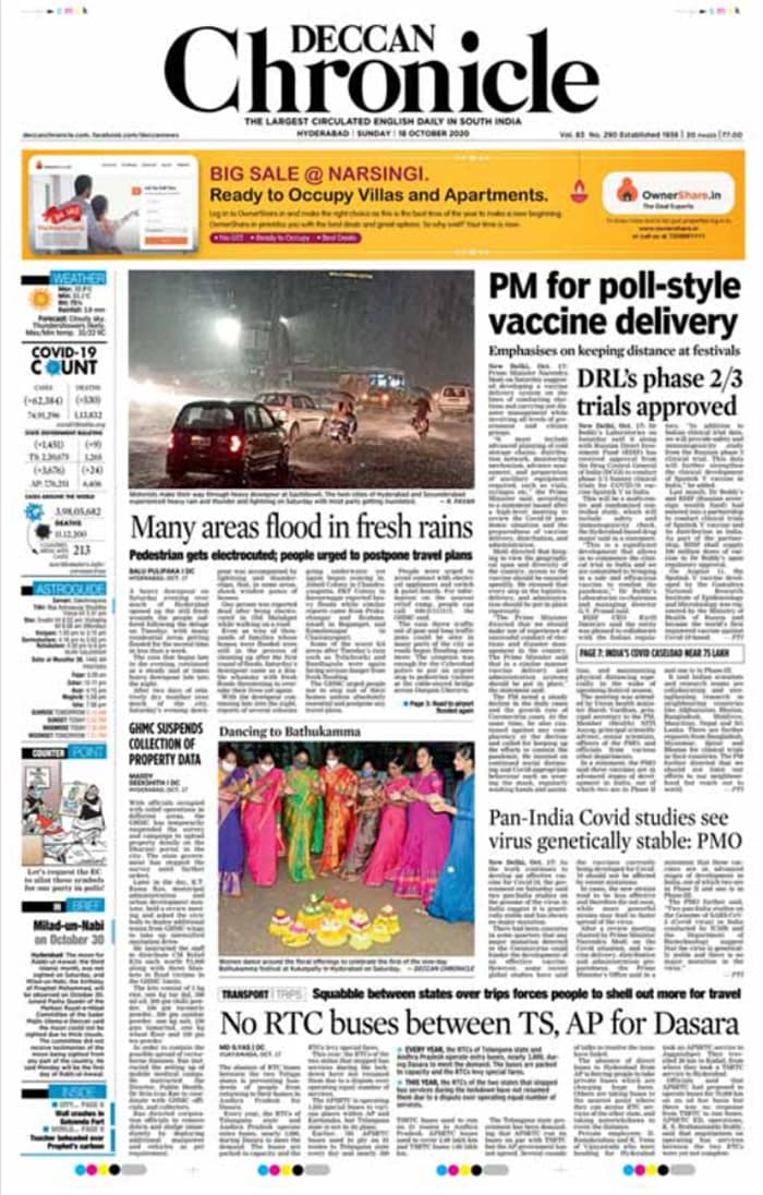 Newspaper Headlines: PM Modi Calls For Speedy Access To COVID-19 Vaccines And Other Top Stories
