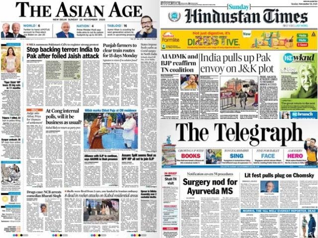 Photo : Newspaper Headlines: India Summons Pakistan Top Diplomat Over Attempted Attack In Jammu And Kashmir And Other Top Stories