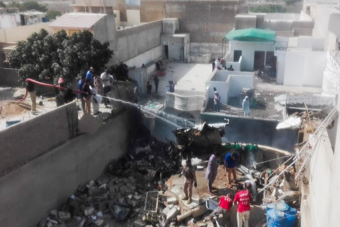 Pakistan Passenger Plane With 99 On Board Crashes On Homes In Karachi