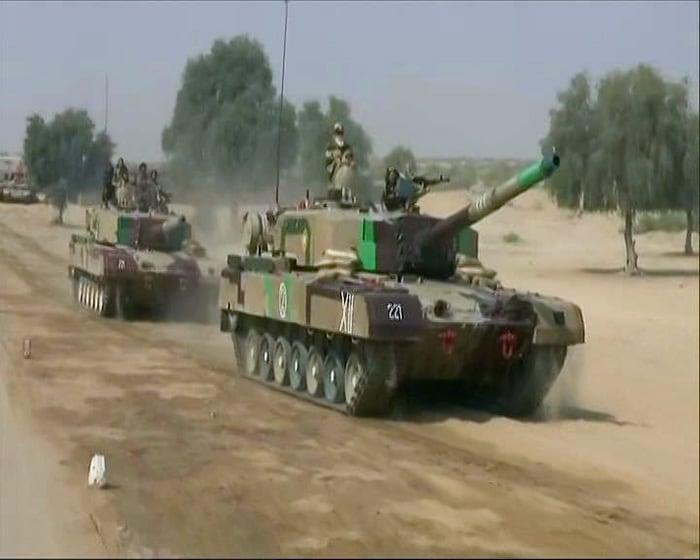 Photos: PM Modi Takes A Tank Ride During Visit To Jaisalmer Soldiers On Diwali