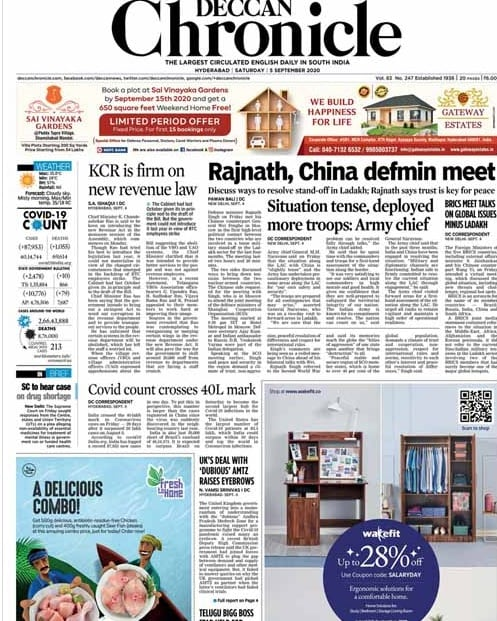 Rajnath Singh, Chinese Defence Minister Meet In Moscow Amid Ladakh Tensions; Other Top Stories