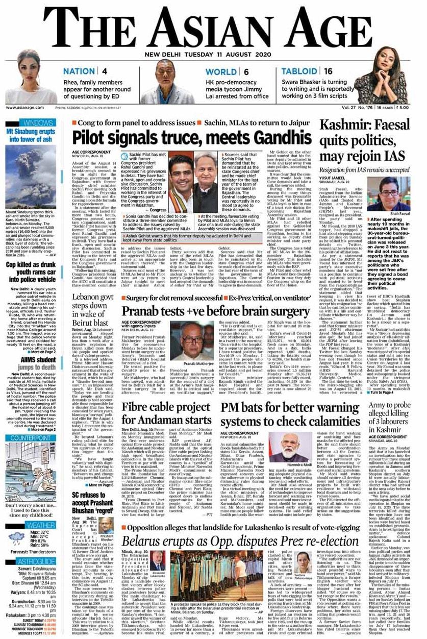 Sachin Pilot Signals Truce, Meet Gandhis; Other Big Stories