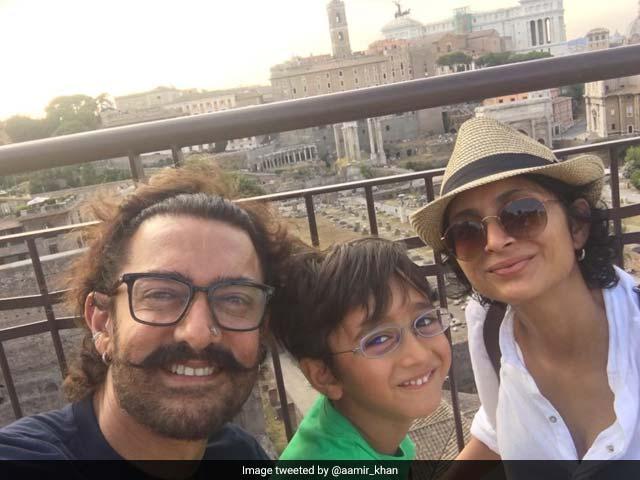 Photo : रोम में आमिर खान की सैर का आखिरी दिन कुछ यूं गुजरा...