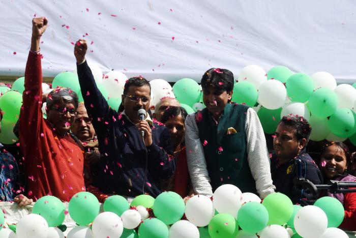 Aam Aadmi Party Sweeps Delhi