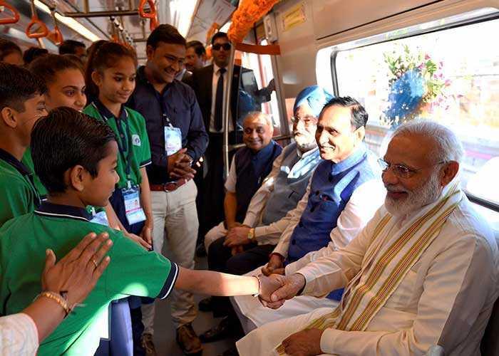Photos: PM Modi Inaugurates First Phase Of Ahmedabad Metro