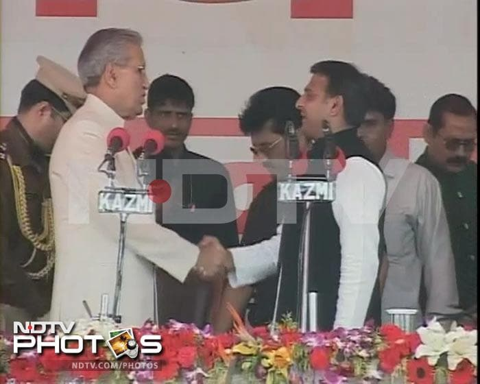 Akhilesh Yadav sworn in as UP Chief Minister
