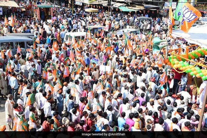 Amit Shah Campaigns In Madhya Pradesh Ahead Of Polls