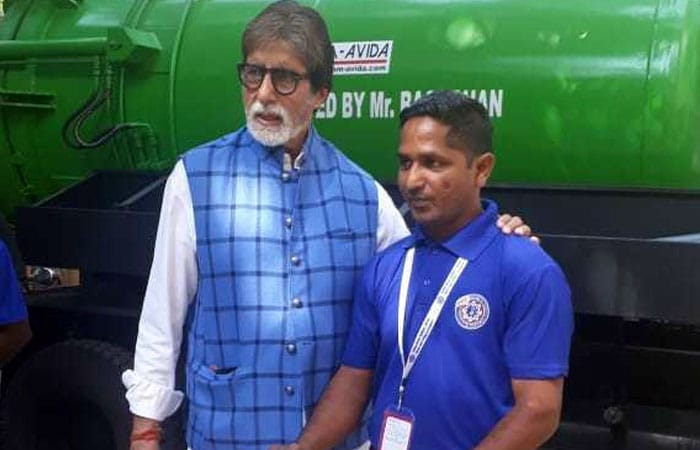 Amitabh Bachchan Fulfills The Promise Of Gifting Sewer Cleaning Machines To Sanitation Workers
