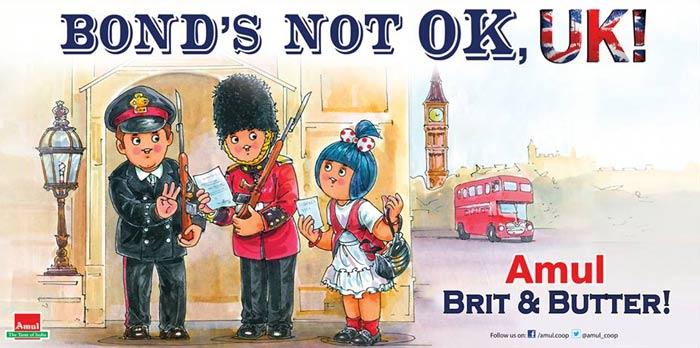Amul\'s message to UK: Bond\'s not OK!