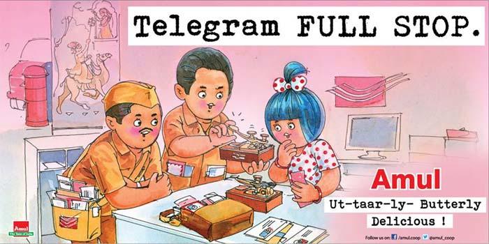 Amul\'s \'ut-taar-ly\' take: Telegram FULL STOP.
