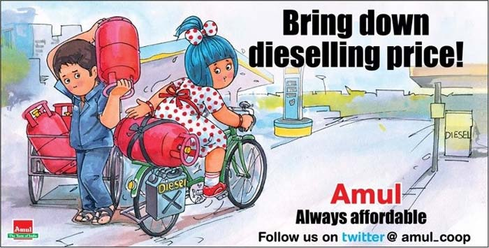 Amul\'s butterly take on fuel price hike and other political controversies