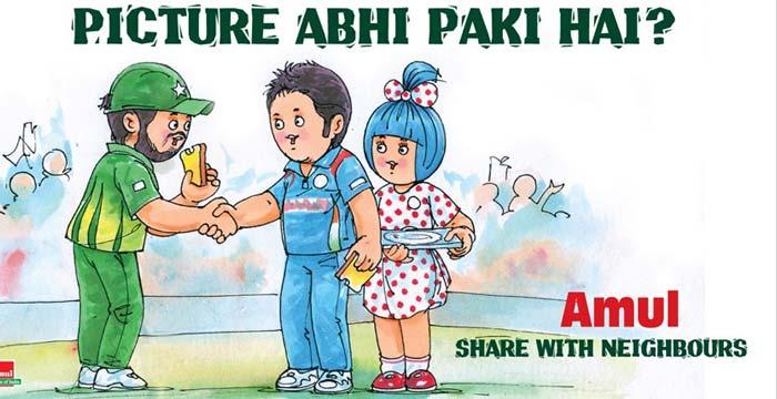 Amul\'s take on Indo-Pak cricket controversy