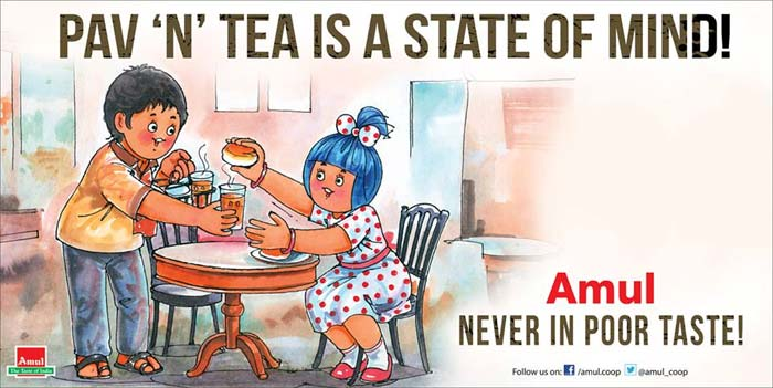 Amul\'s take on Rahul Gandhi\'s remark that \'poverty is just a state of mind\'