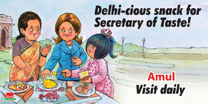 Hillary Clinton\'s India visit becomes subject of Amul\'s latest ad