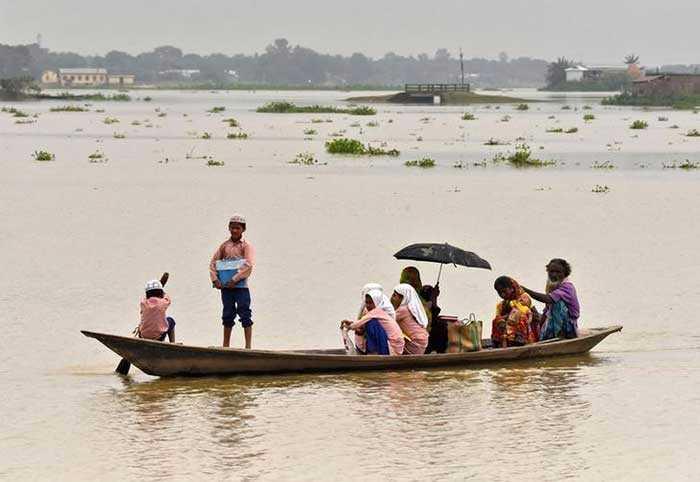 Photo : Pics: Floods Cause Havoc In Assam, Thousands Evacuated