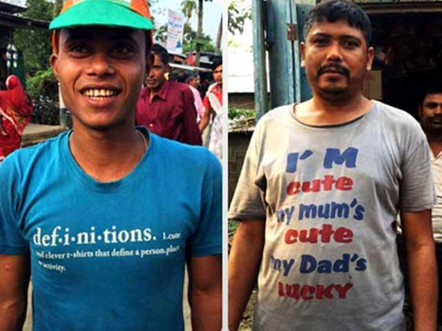 Photo : असम चुनाव: ये टी-शर्ट्स ही काफी कुछ कह देती हैं...