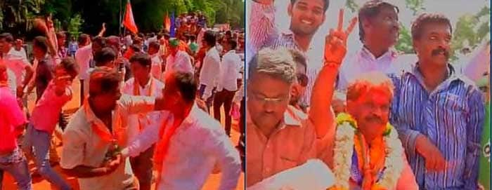 BJP Celebrates With Band Baajaa and Bhangra