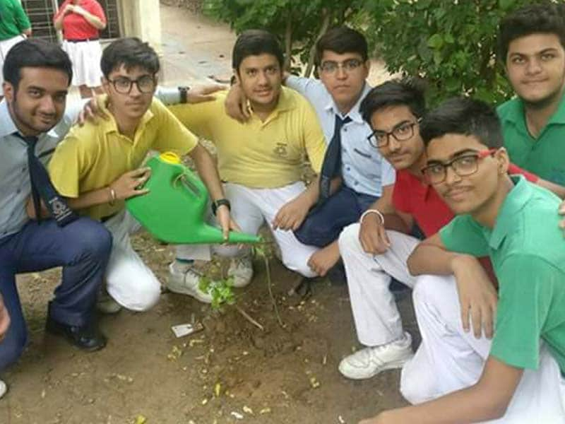 Photo : In Pics: Schools Across India Planted Saplings For A Greener Future
