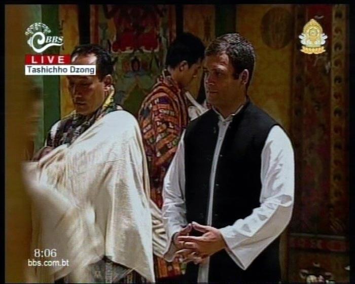 Rahul Gandhi in Bhutan