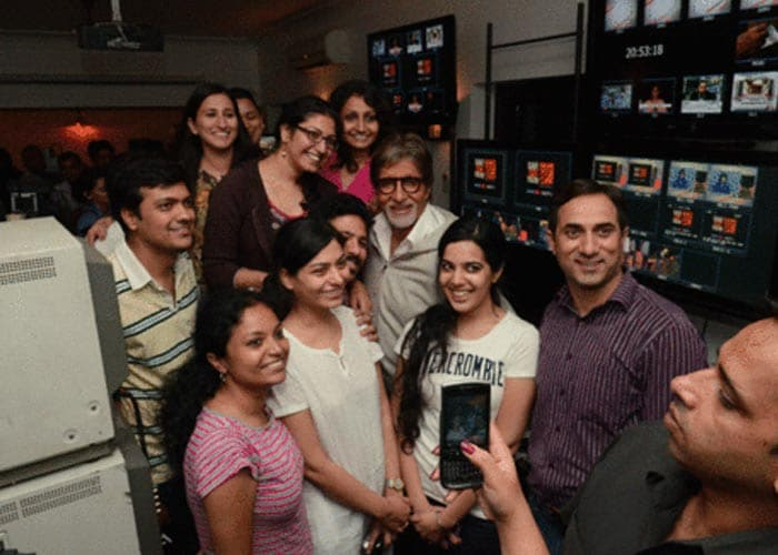 Big B blogs about working with the women at NDTV